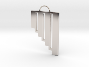 Pan Flute Pendant in Rhodium Plated Brass