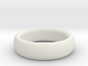 Plain Ring flat inside size11 w 7mm  t 3.2mm  in White Strong & Flexible