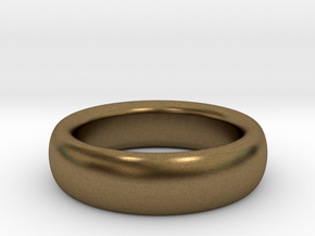 Plain Ring flat inside size11 w 7mm  t 3.2mm  in Natural Bronze
