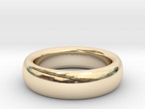 Plain Ring flat inside size11 w 7mm  t 3.2mm  in 14k Gold Plated Brass