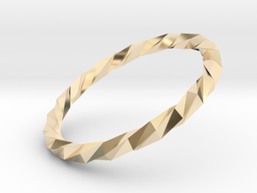 Twistium - Bracelet P=160mm in 14k Gold Plated Brass