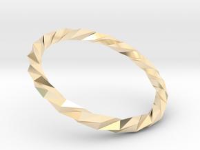 Twistium - Bracelet P=170mm in 14K Yellow Gold