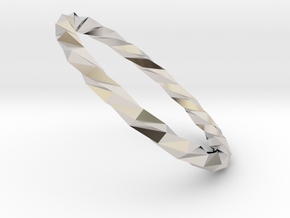 Twistium - Bracelet P=180mm in Rhodium Plated Brass