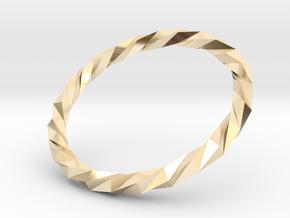 Twistium - Bracelet P=210mm in 14K Yellow Gold