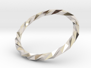 Twistium - Bracelet P=210mm in Rhodium Plated Brass