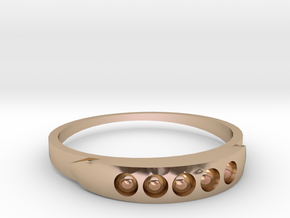 ring 1 in 14k Rose Gold Plated Brass