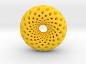 0520 F(u,v) Holed Clifford Torus (d=5.8cm) in Yellow Strong & Flexible Polished