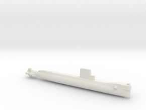USS Seawolf (1957), Full Hull, 1/1800 in White Natural Versatile Plastic