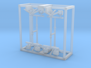 Light Stand 1-87 HO Scale (4PK) in Smooth Fine Detail Plastic