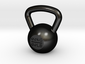 Kettlebell_25 in Matte Black Steel