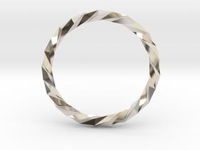 Twistium - Bracelet P=230mm in Platinum