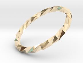 Twistium - Bracelet P=220mm in 14K Yellow Gold