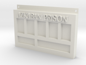 Azkaban Prison Sign in White Natural Versatile Plastic