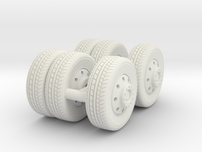 1/87 FDNY seagrave-communication truck wheels in White Natural Versatile Plastic
