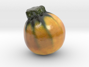 The Round Shaped Zucchini-mini in Glossy Full Color Sandstone