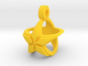 Star Pendant v2 in Yellow Strong & Flexible Polished