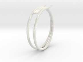 """Life of a worm"" Part 2 - ""Soil mates"" bracelet in White Natural Versatile Plastic: Medium"
