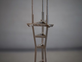 "8"" stainless steel Sutro Tower in Polished Bronzed Silver Steel"