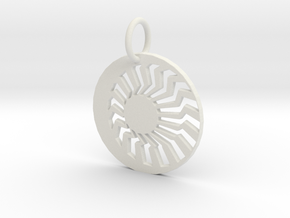 Creator Keychain in White Strong & Flexible