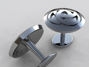 Ring cuflink in Polished Silver