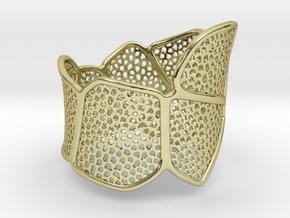 Double Voronoi Bracelet (v1) in 18k Gold