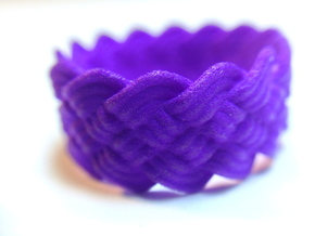 Turk's Head Knot Ring 5 Part X 14 Bight - Size 8.2 in Purple Strong & Flexible Polished