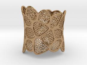 Double Voronoi Bracelet (v2) in Polished Brass