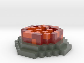 Minecraft Flaming Coaster in Coated Full Color Sandstone
