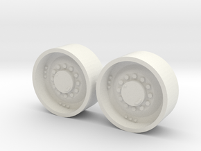 "1/64 34"" Mfwd Wheel  pair in White Strong & Flexible"