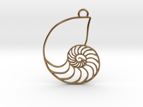 Nautilus Pendant in Raw Brass