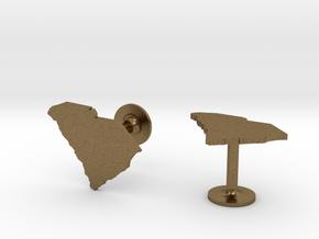 South Carolina State Cufflinks in Natural Bronze
