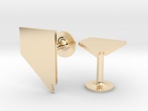 Nevada State Cufflinks in 14k Gold Plated Brass