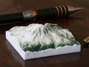 Mt. Rainier, Washington, USA, 1:250000 Explorer in Glossy Full Color Sandstone