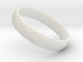 Twistium - Bracelet P=160mm h15 Color in White Natural Versatile Plastic