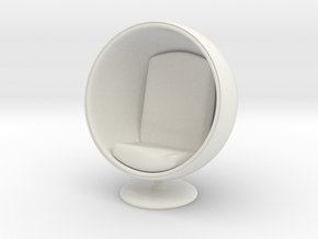 1/32 Girl sitting Egg Chair Part of Chair 002 in White Natural Versatile Plastic