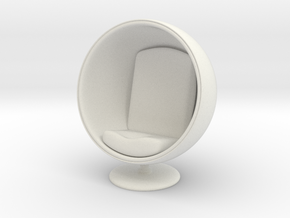 1/32 Girl sitting Egg Chair Part of Chair 004 in White Natural Versatile Plastic