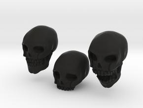 Skulls in Black Natural Versatile Plastic