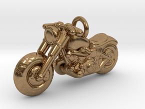 Harley Davidson Pendant in Natural Brass