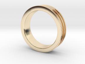 Ø0.687 inch/Ø17.45 mm Prisma Ring in 14K Yellow Gold
