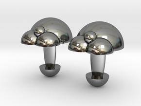 Bubble Cufflinks  in Fine Detail Polished Silver