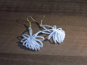 Nova Earrings in White Natural Versatile Plastic
