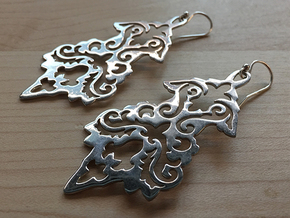 BlakOpal Victorian Flourish Earring in Rhodium Plated Brass