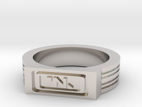 NanoTrasen Ring Size 10 in Rhodium Plated Brass
