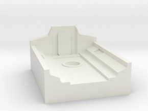 X-Wing Miniatures Ghost Docking Bay for Phantom in White Natural Versatile Plastic