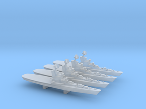 Moskva Class Helicopter Carrier x 4, 1/6000 in Smooth Fine Detail Plastic