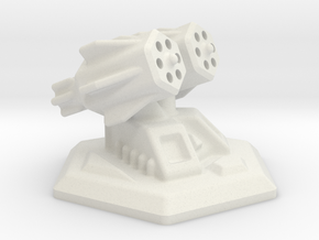 Missile Tower in White Natural Versatile Plastic