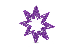 Decoration in Purple Processed Versatile Plastic