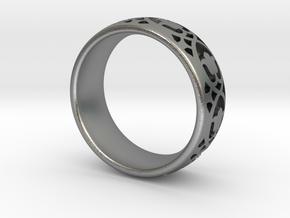 Wedding Ring Model A Ø0.669 inch/Ø17mm in Natural Silver