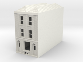 RHS-7 N Scale Rye High Street building 1:148 in White Natural Versatile Plastic