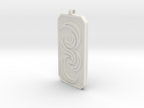 Keychain Dogtag3 in White Natural Versatile Plastic